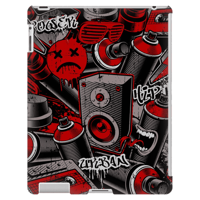 Graffiti Red iPad 3/4 Mini, Tablet Case