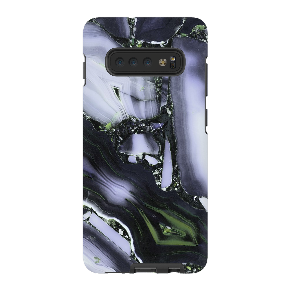 Purple Cracked Marble Galaxy S10+ Series - Purdycase