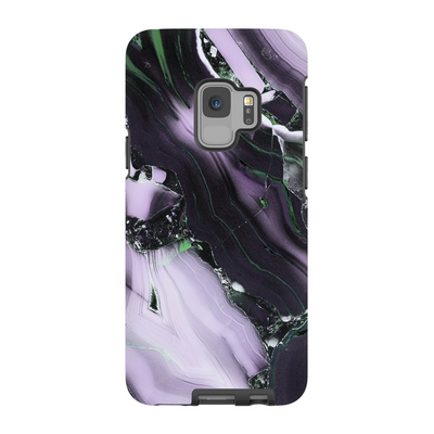 Purple Cracked Marble Galaxy S6-S9+ Series