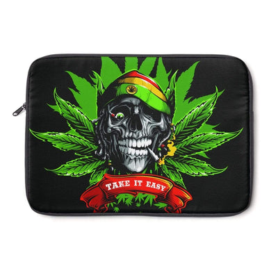 Smoking Skull Laptop Sleeve - Purdycase