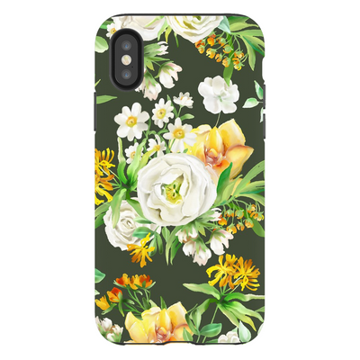 White Floral iPhone X-XS Max Series