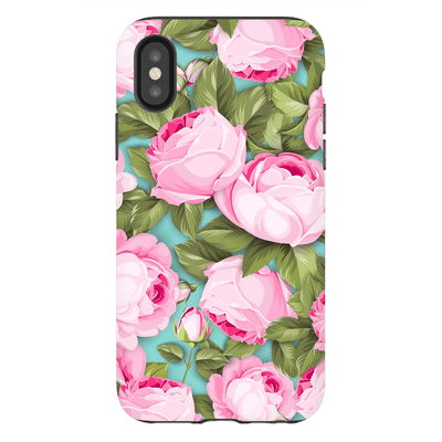 Pink Roses iPhone X-XS MaX Tough Case - Purdycase