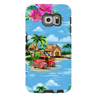 Blue Hawaiian Galaxy S6 Edge and S6 Edge Plus Tough Case - Purdycase