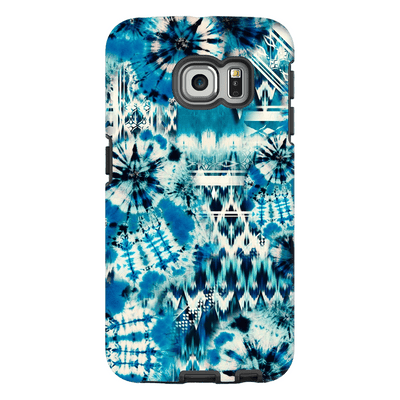 Blue Green Tie Dye S6 Edge and S6 Edge Plus Tough Case - Purdycase
