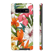 Tropical Flowers Galaxy 10 Series Tough Case - Purdycase