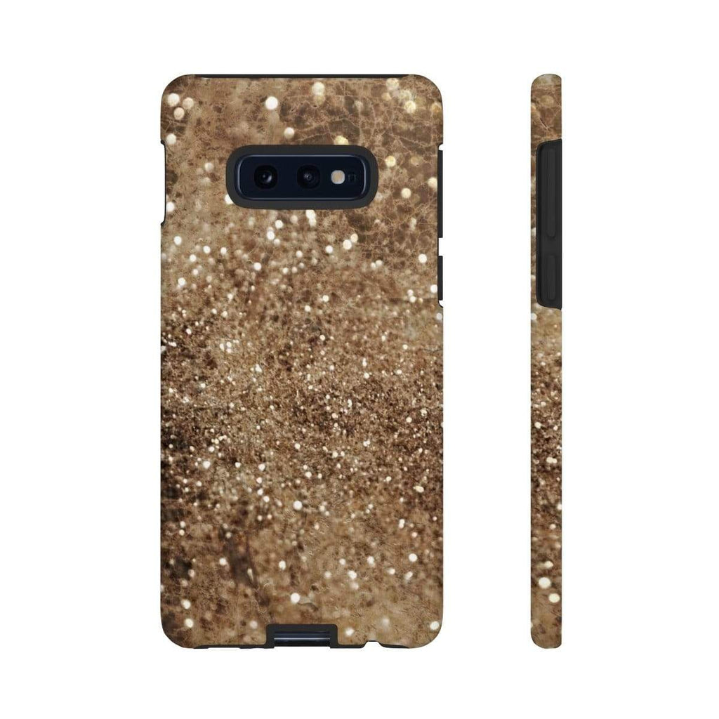 Sparkle Brown Marble Galaxy 10 Series Tough Case - Purdycase