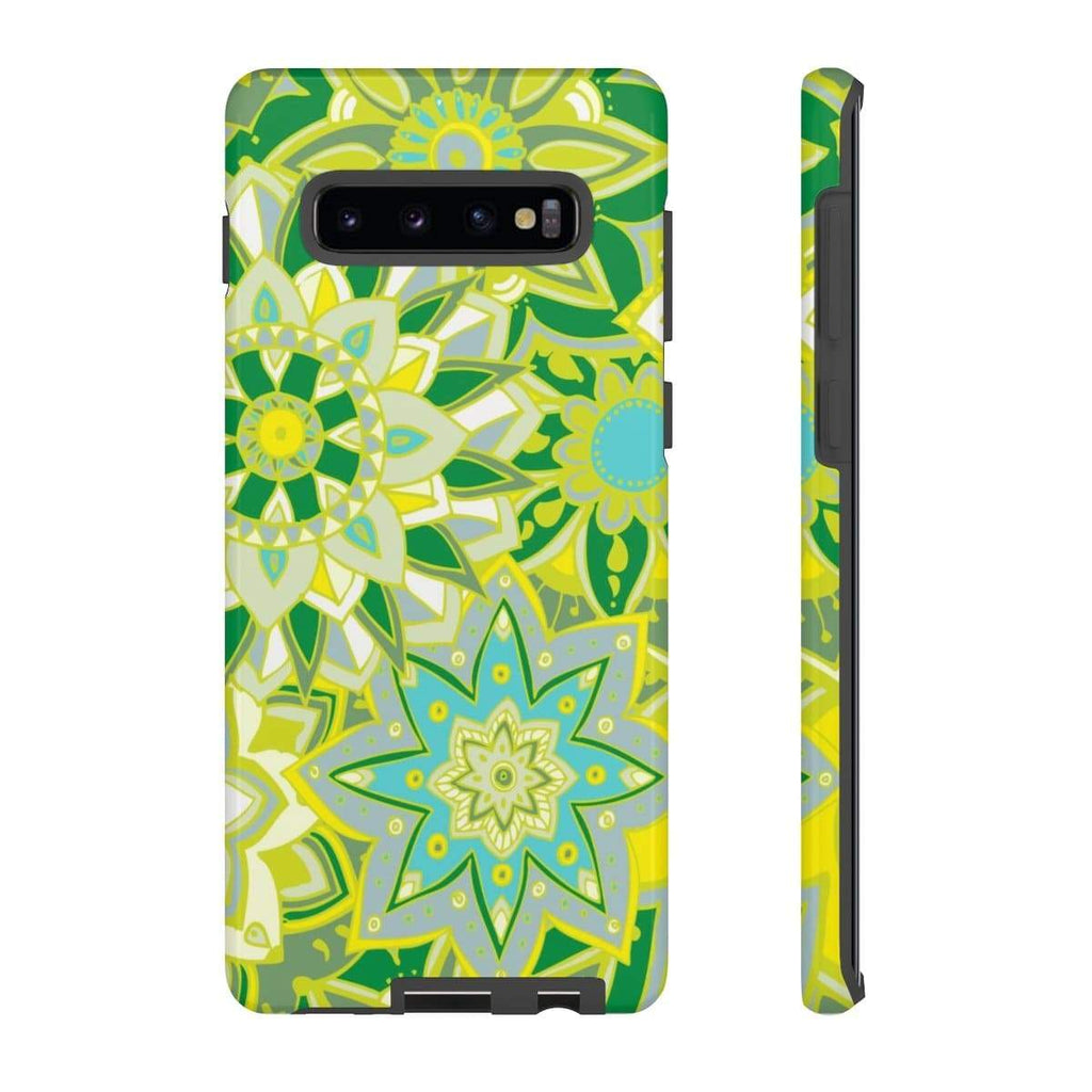 Yellow Flower Mandala Galaxy 10 Series Tough Case - Purdycase