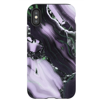 Purple Cracked Marble iPhone X-XS Max Series