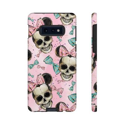 Pink Mickey Mouse Skull Galaxy 10 Series Tough Case
