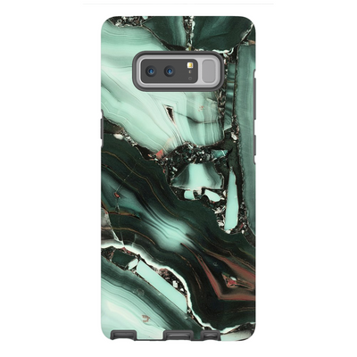 Green Cracked Marble Galaxy Note 8-10 Series