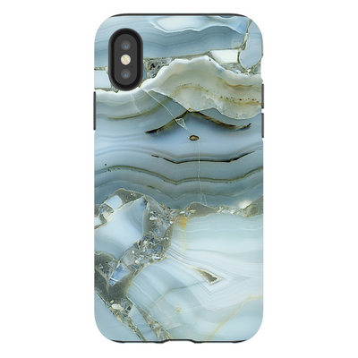 Blue-Green Cracked Marble iPhone X-XS Max Series