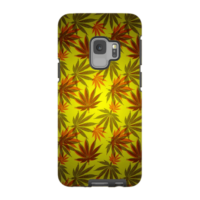 Yellow Cannabis Galaxy 6-9 Series Tough Case