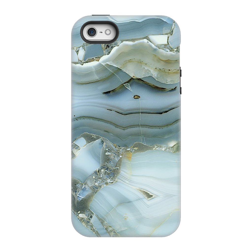 Blue-Green Cracked Marble iPhone 5 Series - Purdycase