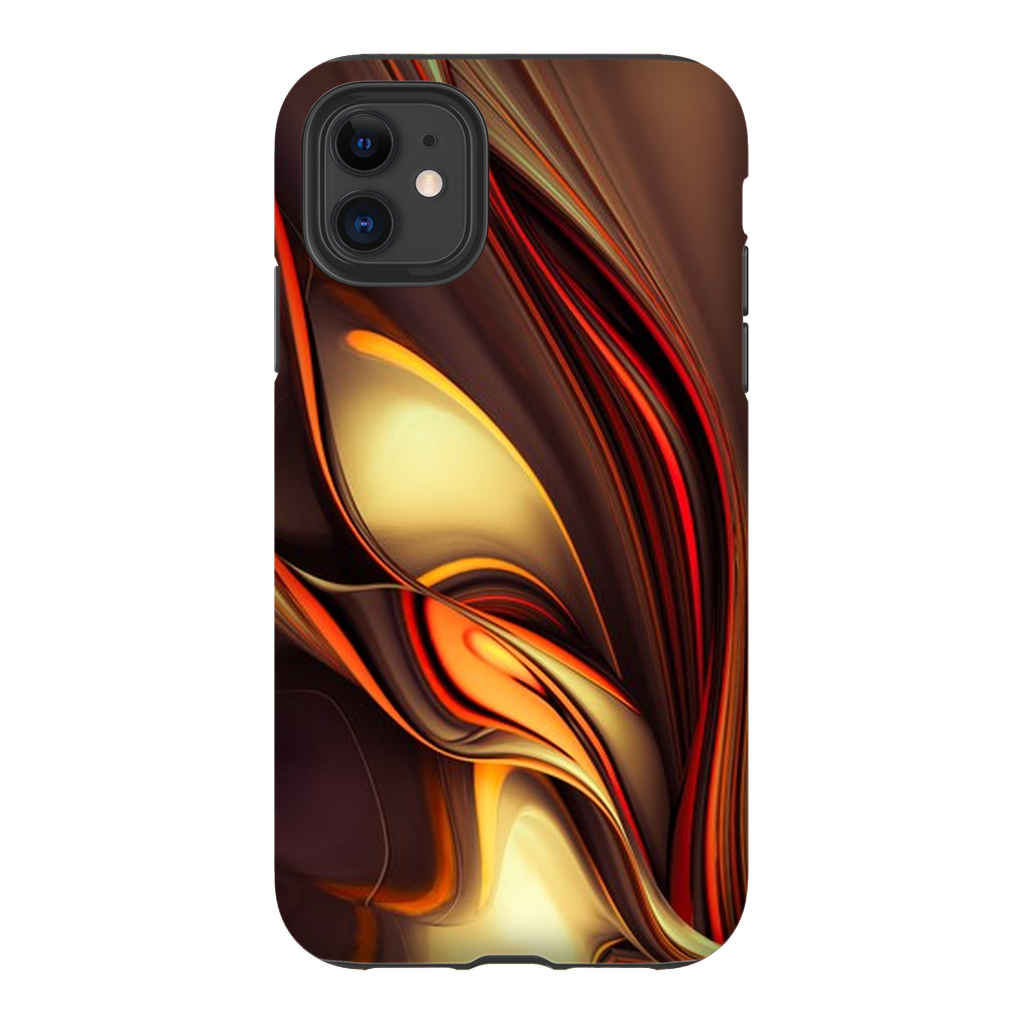Red Gold Ribbon Abstract iPhone 11 Series - Purdycase