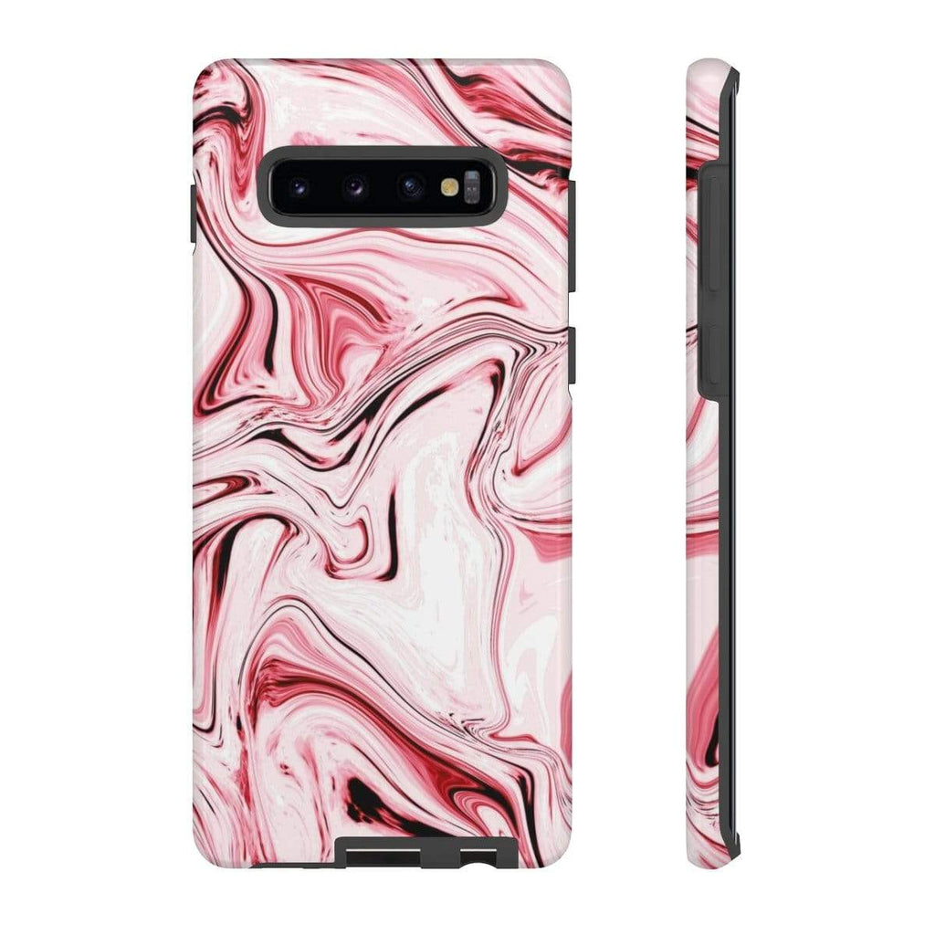 Pink Swirl Marble Galaxy 10 Series Tough Case - Purdycase