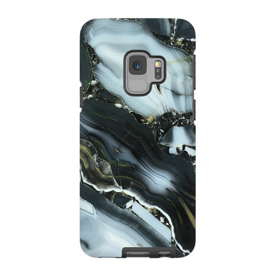 Blue Cracked Marble Galaxy S6-S9+ Series