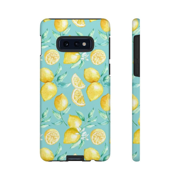 Turquoise Lemon Galaxy 10 Series Tough Case - Purdycase