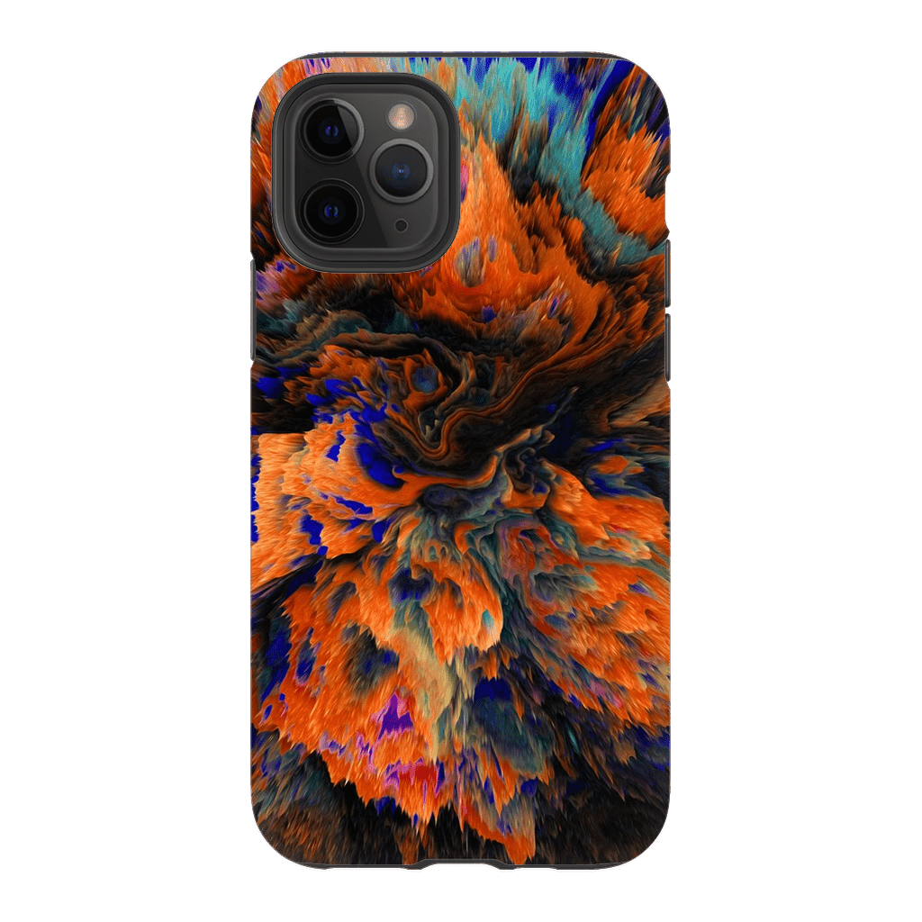 Orange Abstract iPhone 11 Series Tough Case - Purdycase