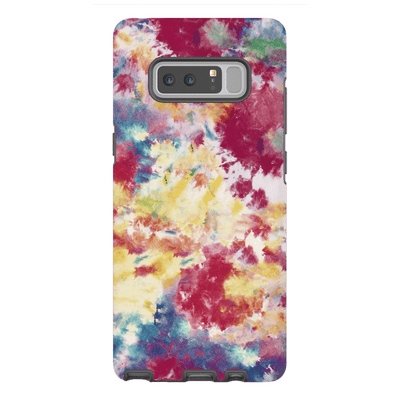 Yellow Red Tie Dye Galaxy Note 8 and 9