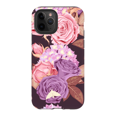 Purple Rose Pattern iPhone 11 Series