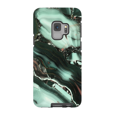 Green Cracked Marble Galaxy S6-S9+ Series
