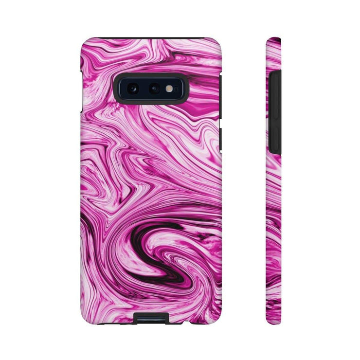Pink Drizzle Marble Galaxy 10 Series Tough Case - Purdycase