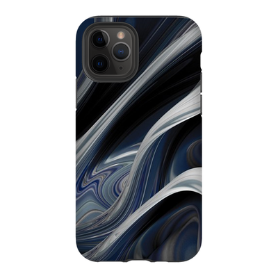 Blue Grey Ribbon Abstract iPhone 11 Series