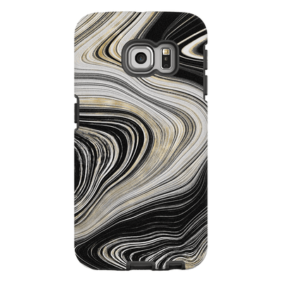 Black Abstract Gold Galaxy S6 Edge and S6 Edge Plus Tough Case - Purdycase