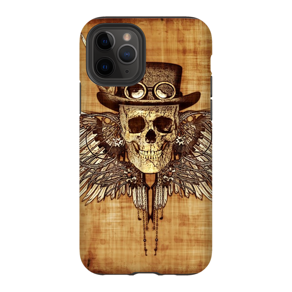Feathered Wood Steampunk Skull iPhone 11 Series - Purdycase