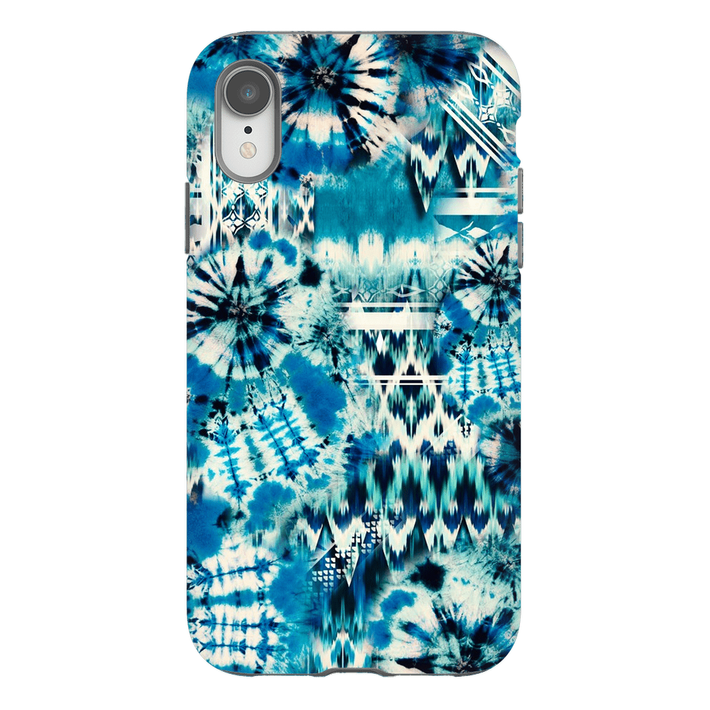 Blue Green Tie Dye iPhone X-XS Max Tough Case - Purdycase