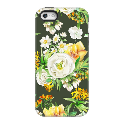 White Floral iPhone 5-8+ Series
