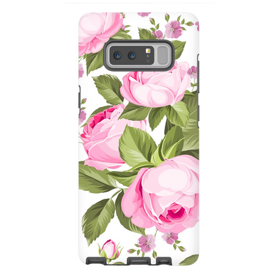 Pink Rose Medley Galaxy Note 8-10+ Series