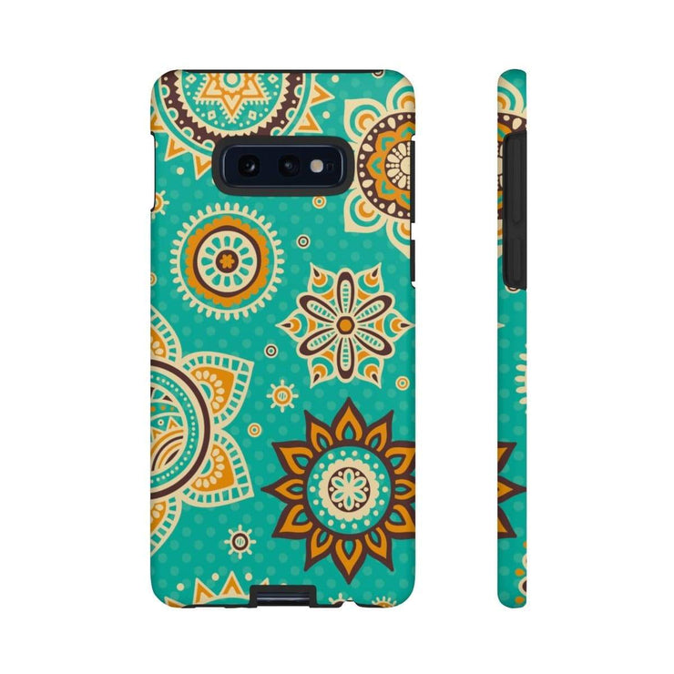 Turquoise Mandala Galaxy 10 Series Tough Case - Purdycase