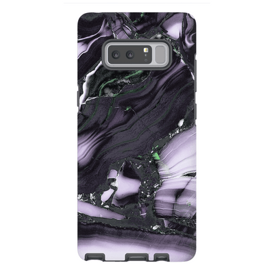 Black Purple Marble Galaxy Note 8 and 9 Tough Case
