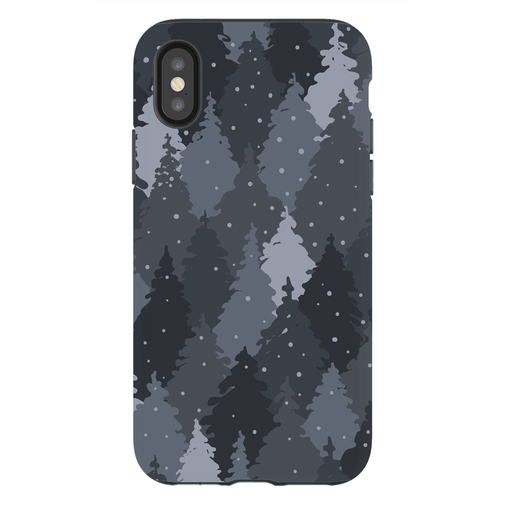 Forest Gray Camo iPhone X-XS MaX Tough Case - Purdycase