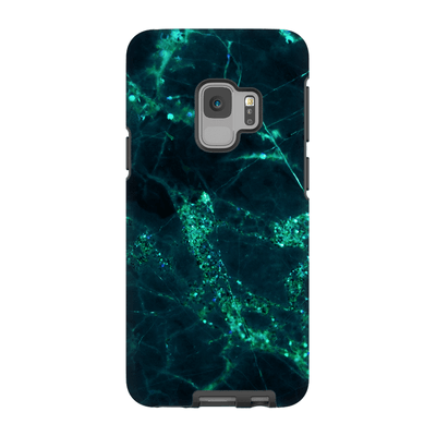 Midnight Shamrock Marble Galaxy S6-S9Plus