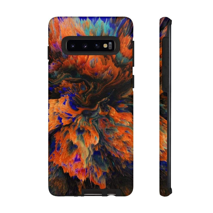 3D Texture Orange Canyon Galaxy 10 Series Tough Case - Purdycase