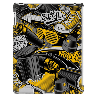 Graffiti Yellow iPad 3/4 Mini, Tablet Case