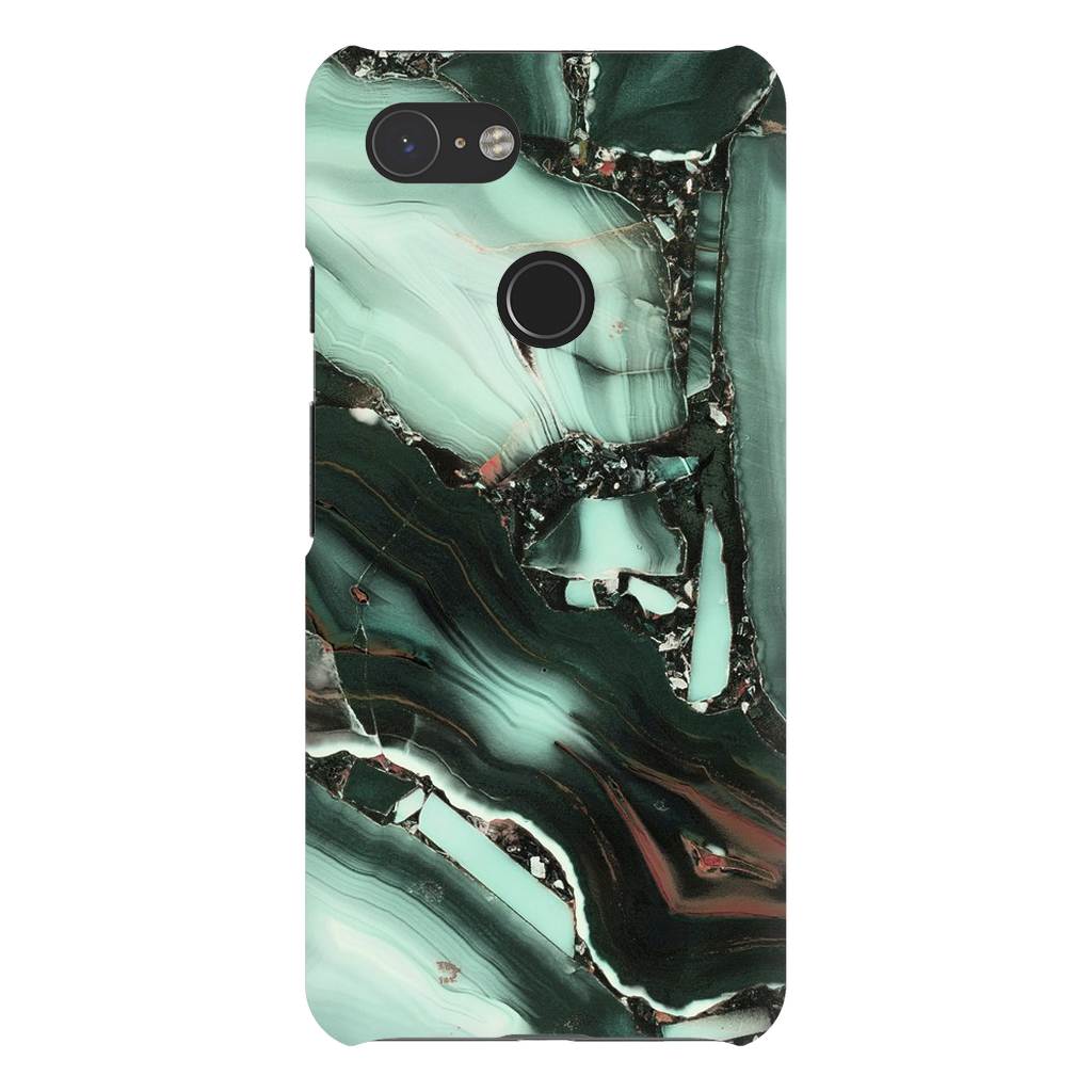 Green Cracked Marble Google Pixel X-3XL Series - Purdycase