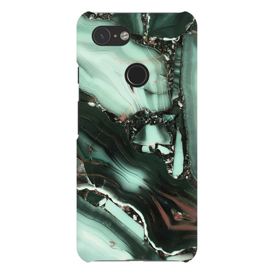 Green Cracked Marble Google Pixel X-3XL Series