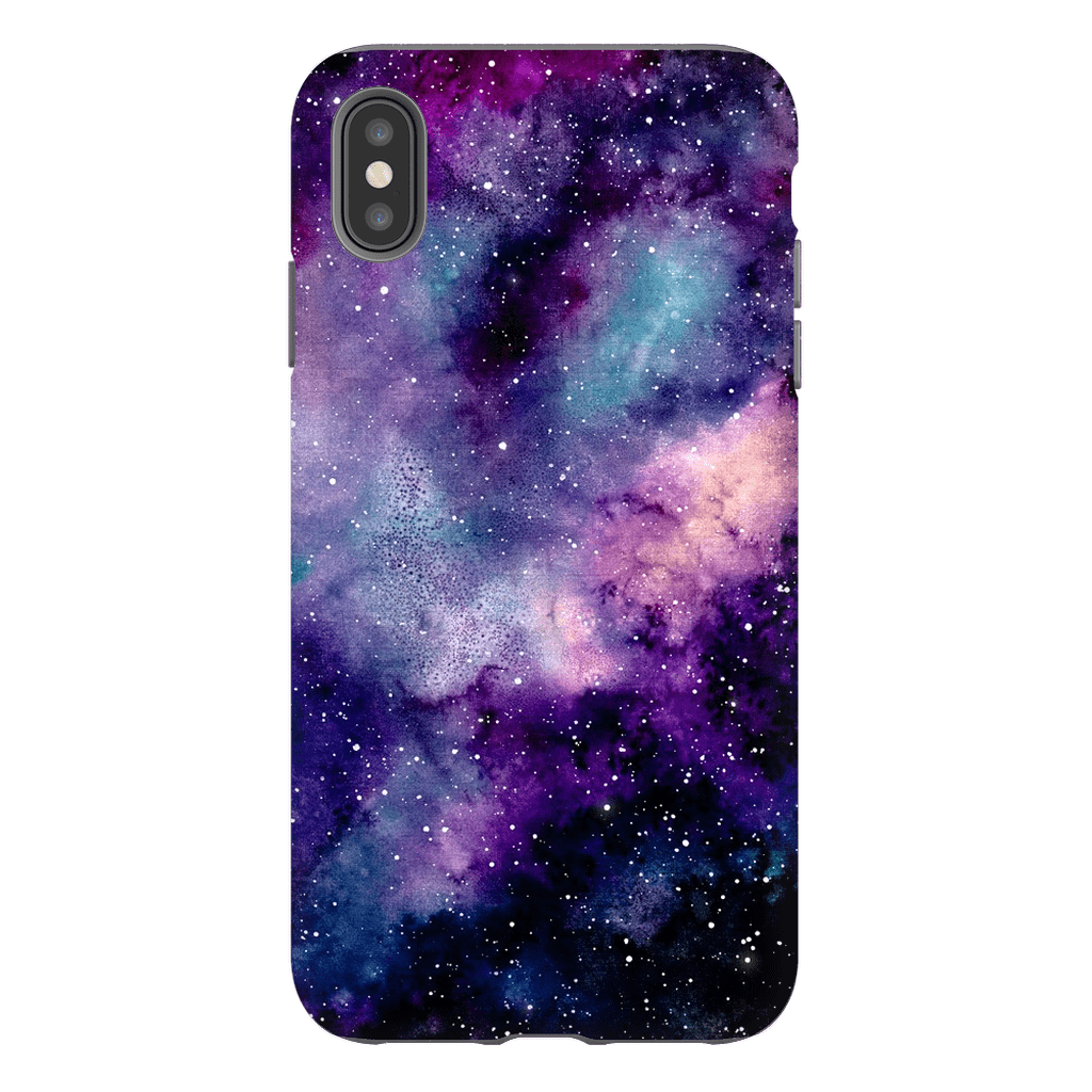 Purple Passion Space iPhone X-XS MaX Tough Case - Purdycase