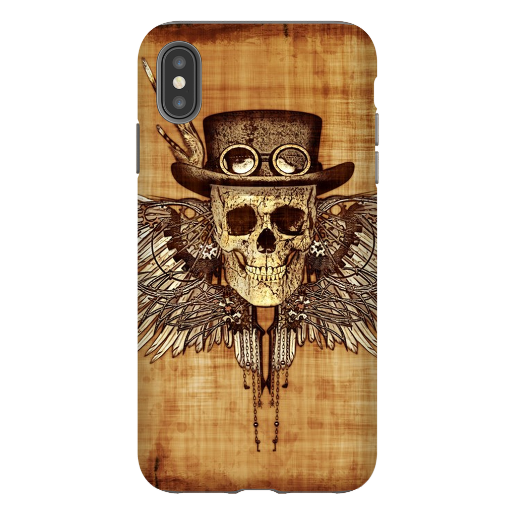 Feathered Wood Steampunk Skull iPhone X-XS Max Series - Purdycase