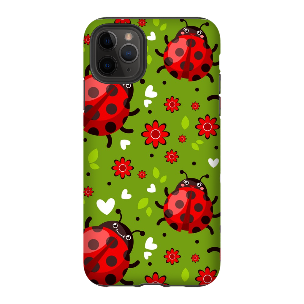 Floral Ladybugs  iPhone 11 Series Tough Case - Purdycase