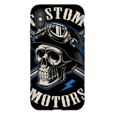 Biker Skull iPhone X-XS Max Series