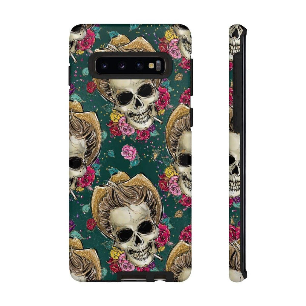 Cowboy Rockabilly Skull Galaxy 10 Series Tough Case - Purdycase