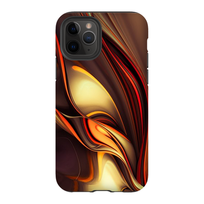 Red Gold Ribbon Abstract iPhone 11 Series