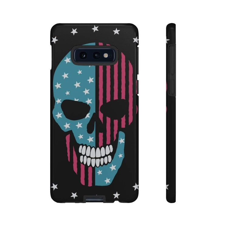 Skull Blue Pink Galaxy 10 Series Tough Case - Purdycase