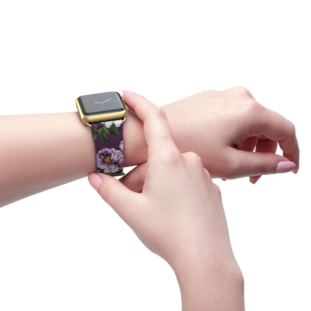 Purple Flower Apple Watch Band - Purdycase