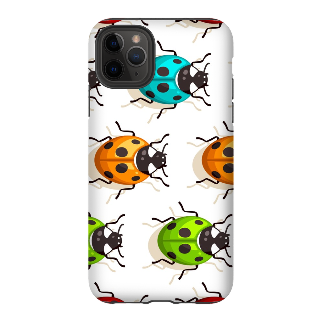 Multi-Colored Ladybugs iPhone 11 Series Tough Case - Purdycase