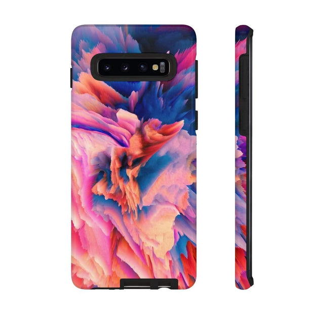 3D Abstract Pink Blue Galaxy 10 Series Tough Case